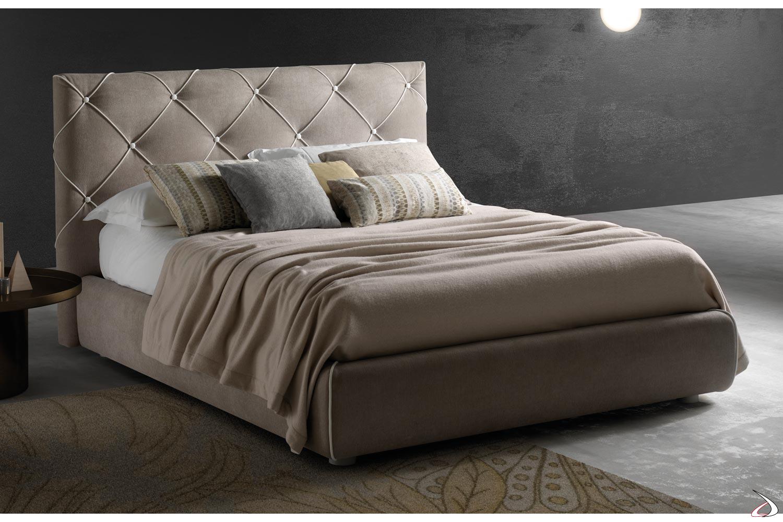 Letto Moderno Con Contenitore.Bed With Headboard With Diamante Buttons Toparredi Arredo