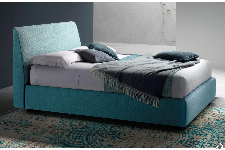 Letto Singolo Tessuto Contenitore.Single Bed Upholstered In Toby Fabric Toparredi Arredo Design