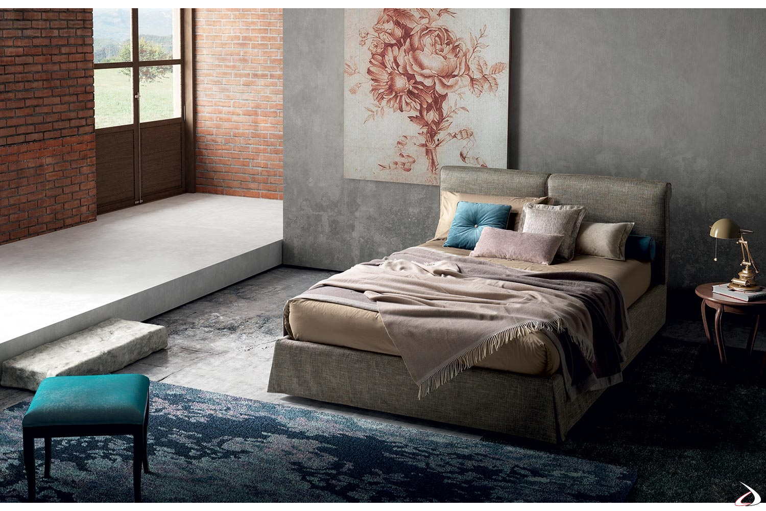 Testata Letto Vintage.Ultra Modern Bed With Removable Maida Headboard Toparredi