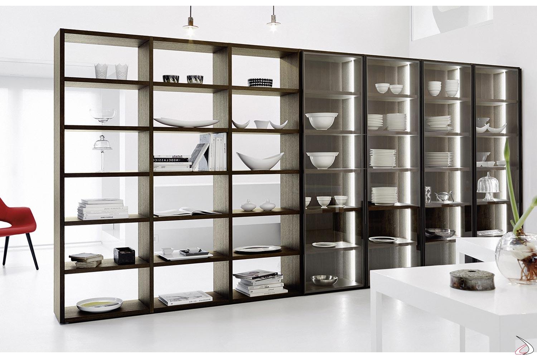Libreria Con Ante In Vetro Prezzi.Libreria Vetrina Soggiorno Ellison Toparredi Arredo Design Online