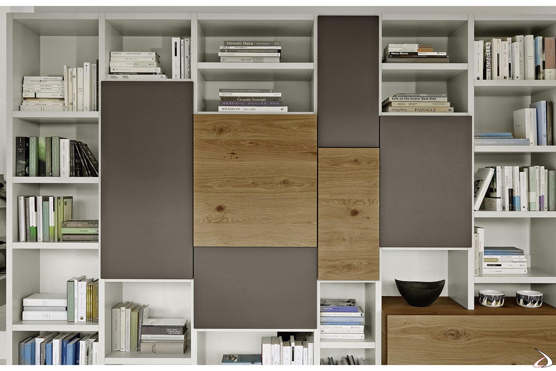 modular wooden bookcase