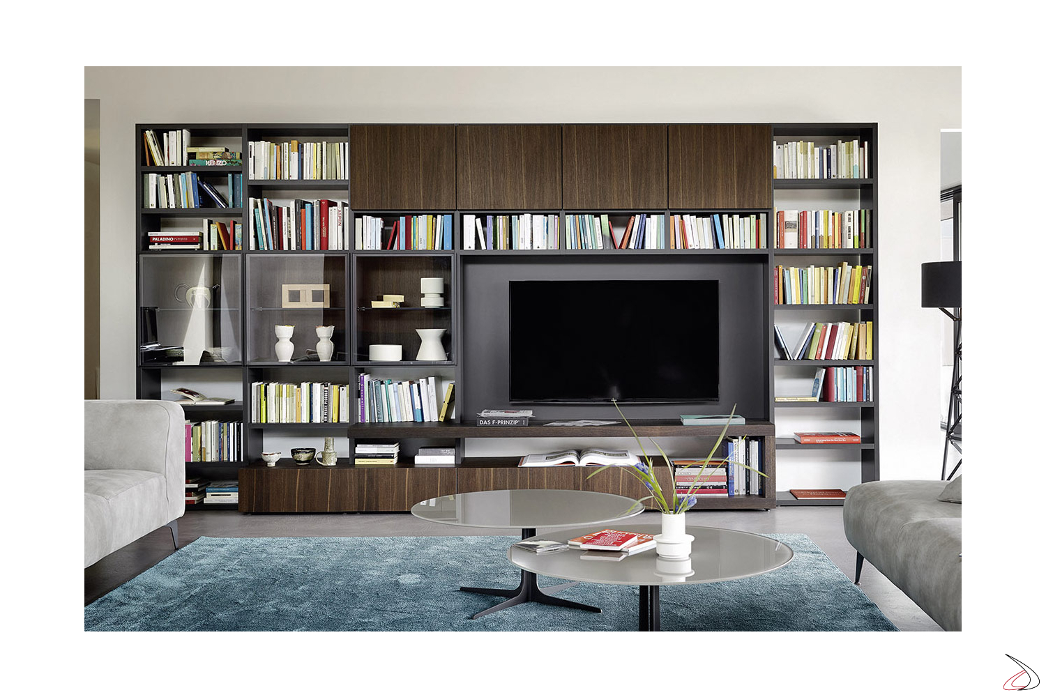 wooden bookcase for the living room