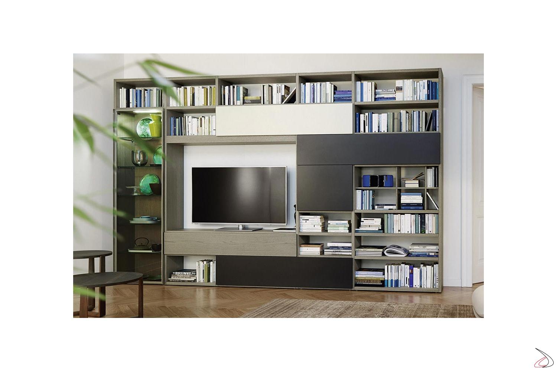 Parete Mobili Porta Tv Design.Giacomo Living Room Toparredi Arredo Design Online
