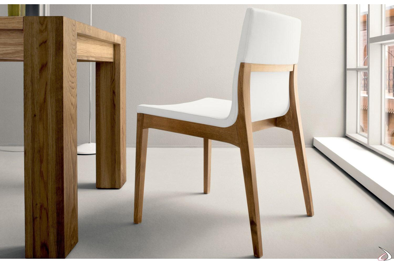 Sedie Design Legno E Pelle.Rocci Living Room Design Chair Toparredi Arredo Design Online
