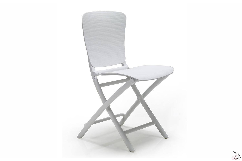 Sedia pieghevole Zac Classic in color bianco