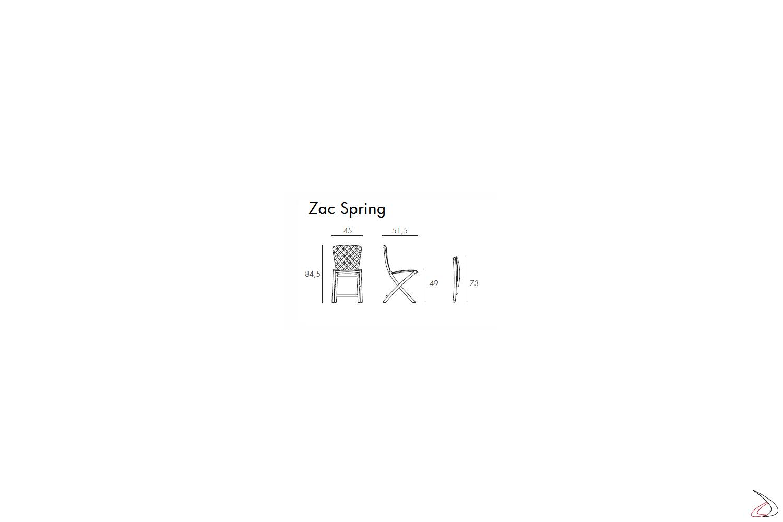 Nardi Garden sedia pieghevole Zac Spring, misure
