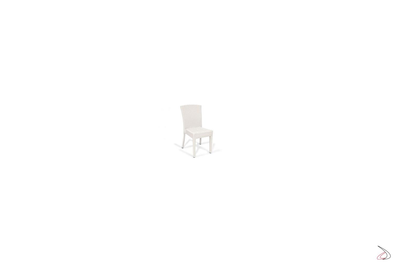 Sedia da veranda esterna colore bianco