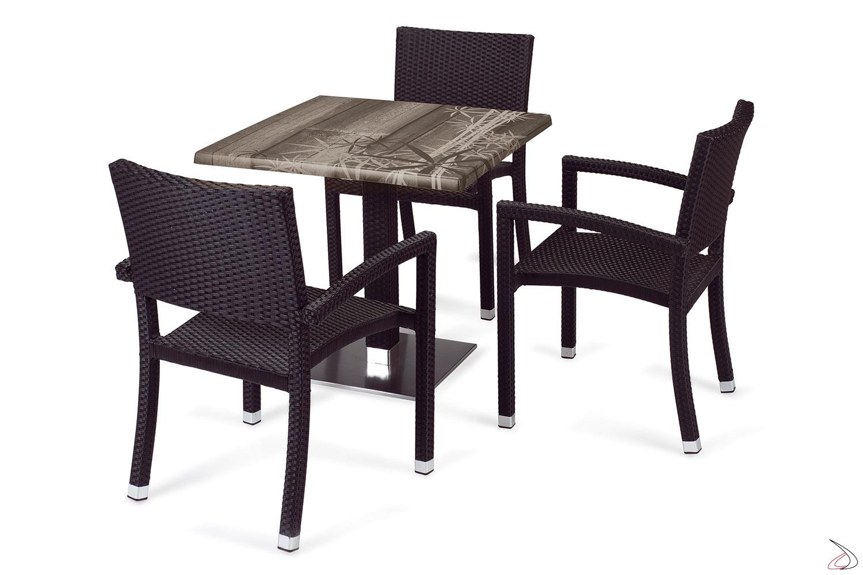 Sedie E Tavoli Da Esterno.Sedia Con Braccioli Da Esternourano Toparredi Arredo Design Online
