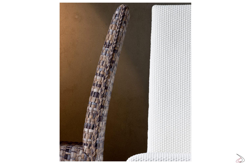 Schienale rivestito in fibra di cellulosa
