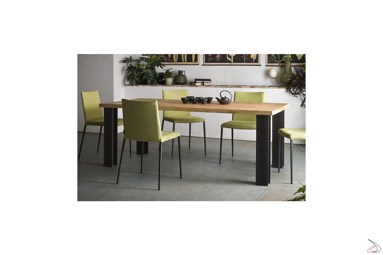 Tavolo moderno fisso o allungabile