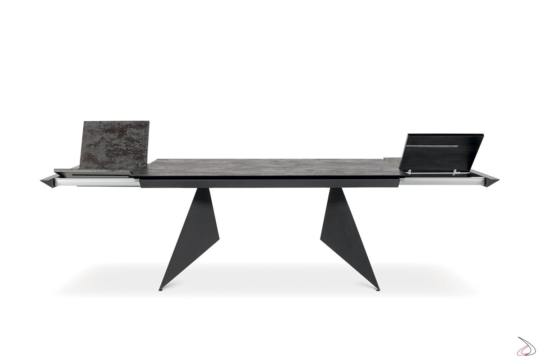 Tavolo soggiorno di design in ceramica allungabile oltre 3 metri