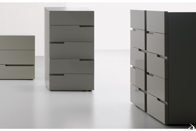 Settimino moderno 5 cassetti laccato