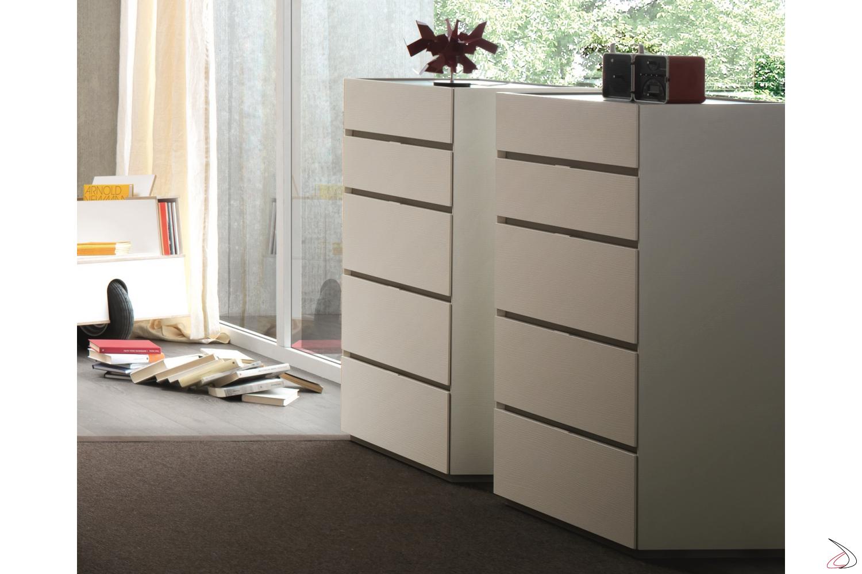 Settimo moderno bianco per camera da letto