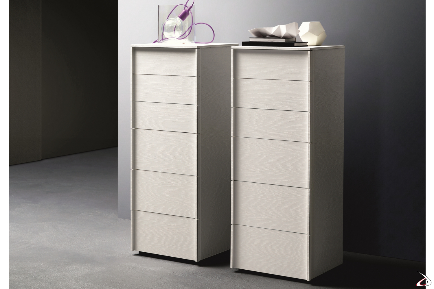 Modern drawer unit with 6 drawers