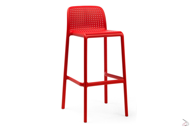 Sgabello colore rosso modello lido mini