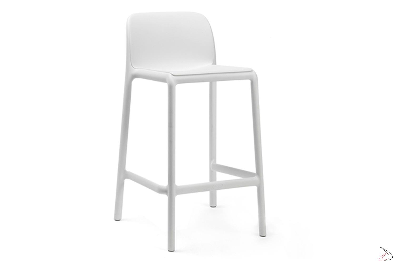Sgabello di colore bianco modello Faro mini
