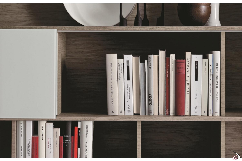 Libreria con ante scorrevoli mobile soggiorno