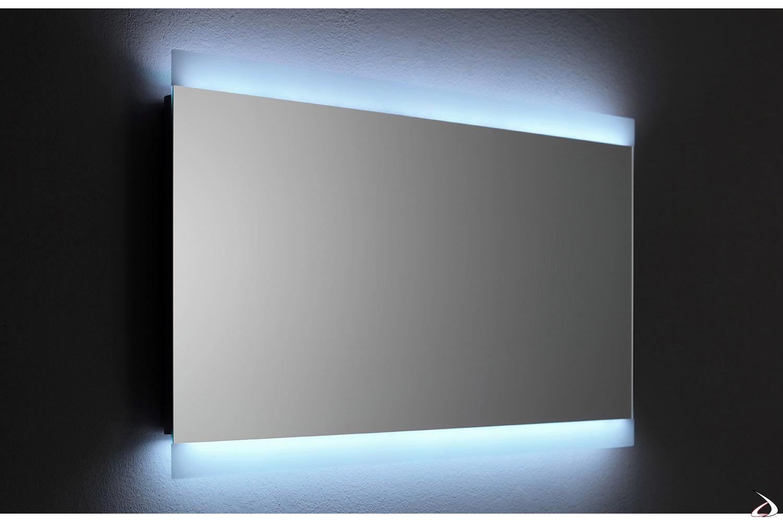 Specchio Bagno 120 X 60.Specchio Retroilluminato Con Cassa Vibrante Vela Toparredi