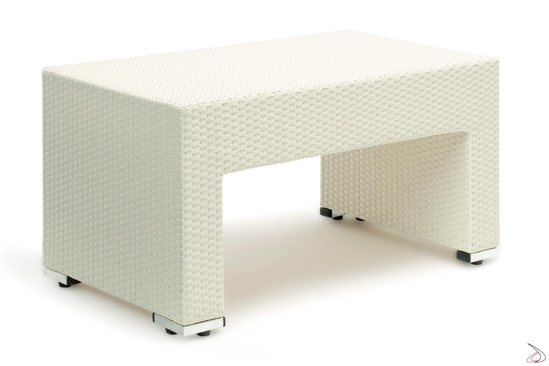 Tavolino per salotto giardino bianco