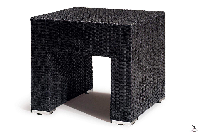 Tavolino basso per salotto esterno antracite