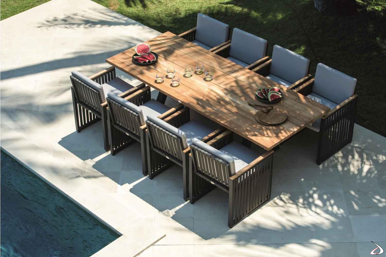 Tavolo Da Giardino Teak.Rettangolare Alaska Table Toparredi Arredo Design Online