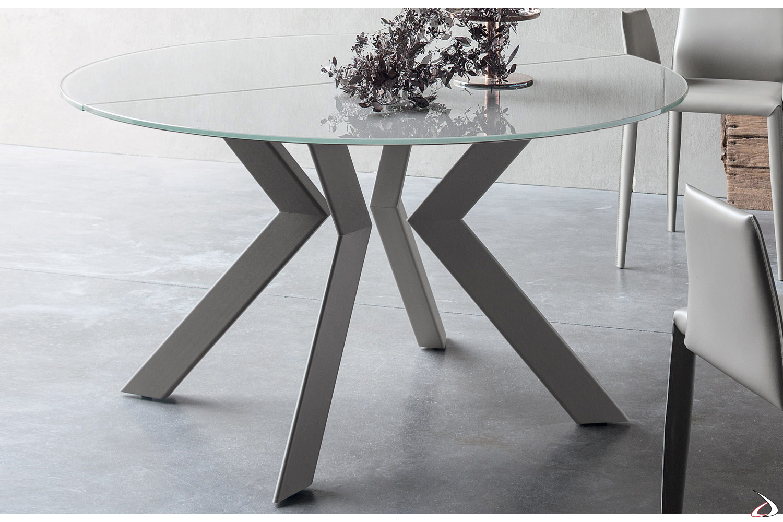 Tavolo Tondo Allungabile Cristallo.Vitrix Extendable Round Table Toparredi Arredo Design Online