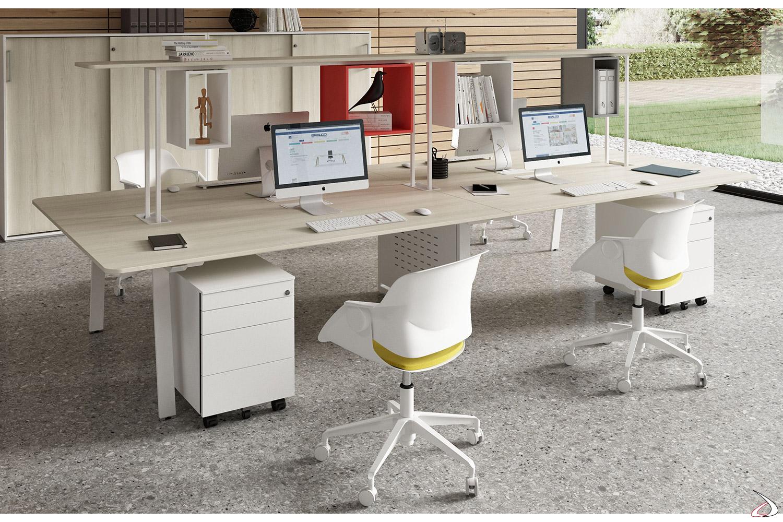 Scrivania ufficio moderna con ripiano Sandri | TopArredi
