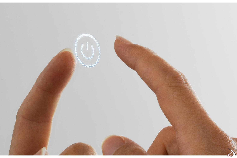 Interruttore touch illuminato per accensione spegnimento luci led