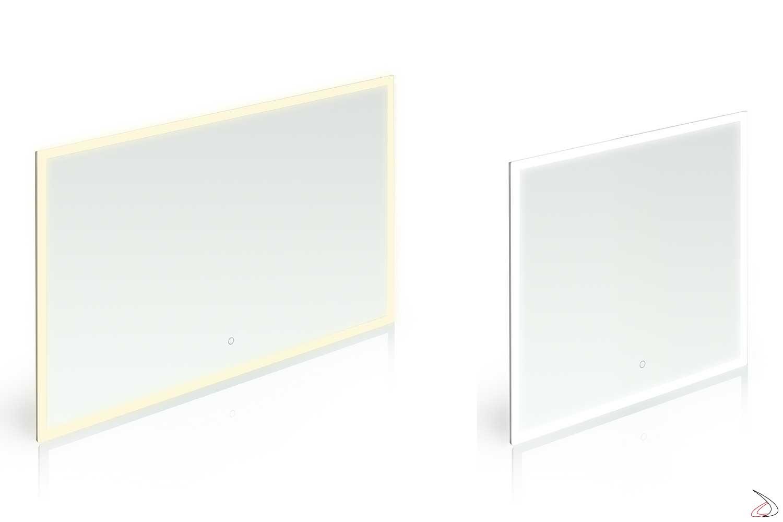 Specchi di design retroilluminati con led a luce calda e luce fredda