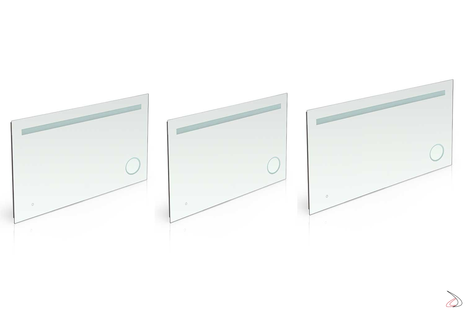Mirror With 3X Magnifier And Dorado Led Light