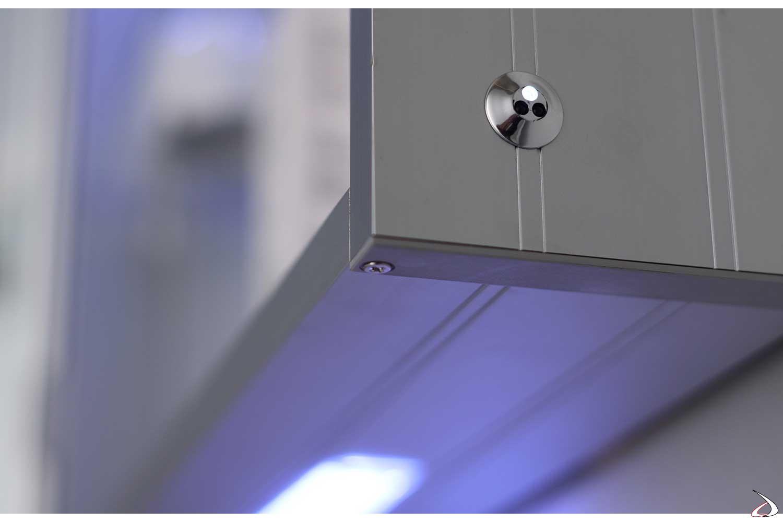 Interruttore a infrarossi per luci led esterne e funzione antiappannamento
