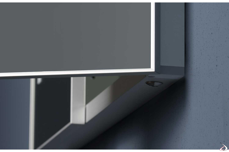 Interruttore a infrarossi per luci led esterne specchio semincasso