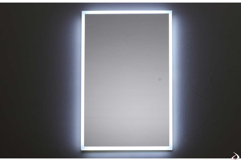 Specchio verticale da bagno retroilluminato con luce led fredda