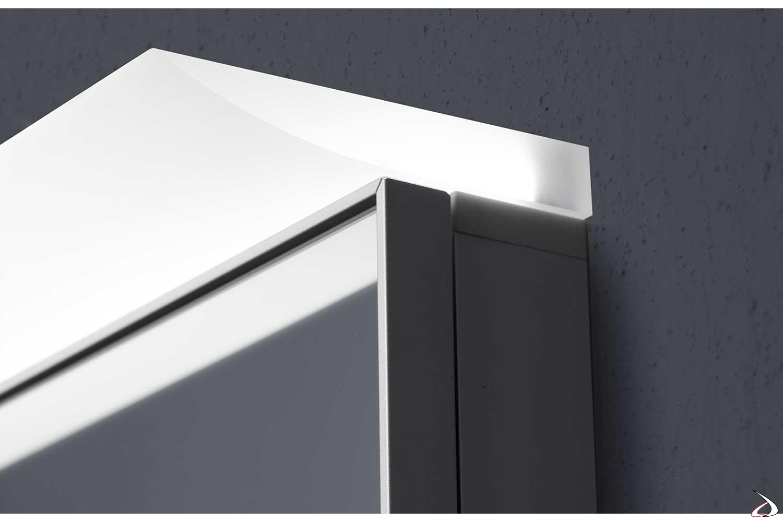 Specchio semincasso contenitore da bagno con luce led