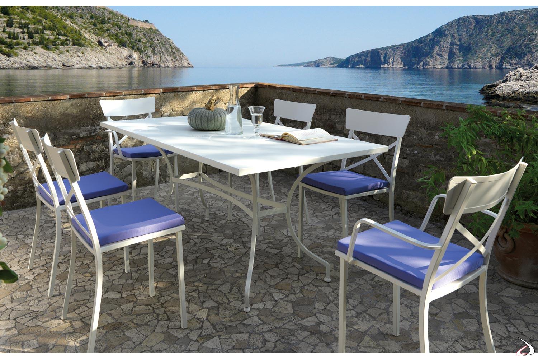 Sedie da terrazzo per ristorante con cuscino imbottito