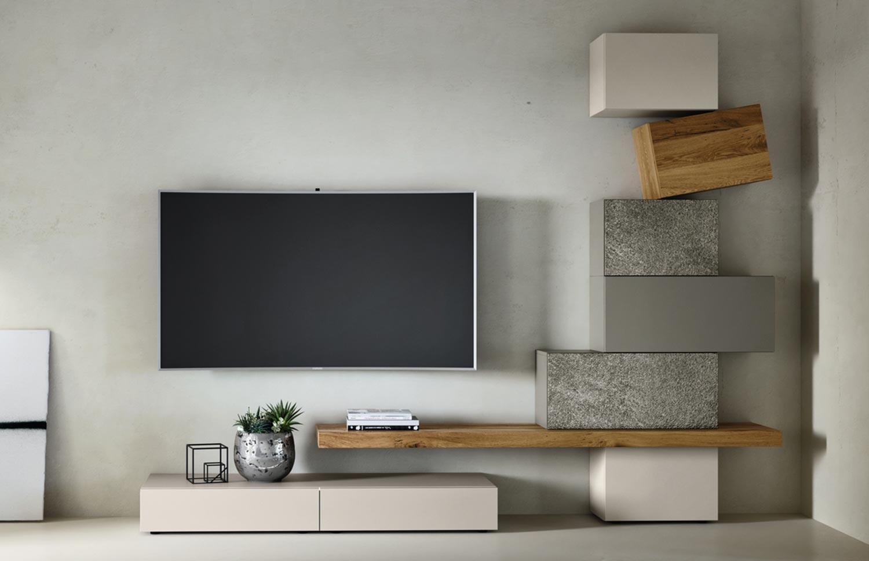 Parete In Pietra Soggiorno urom living room