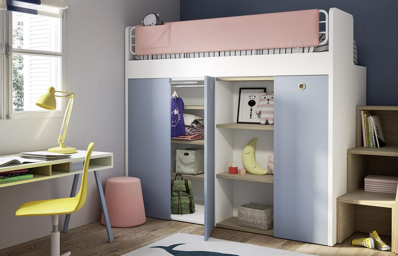Letto A Castello Singolo.Bunk Bed With Ergo Wardrobe Toparredi Arredo Design Online