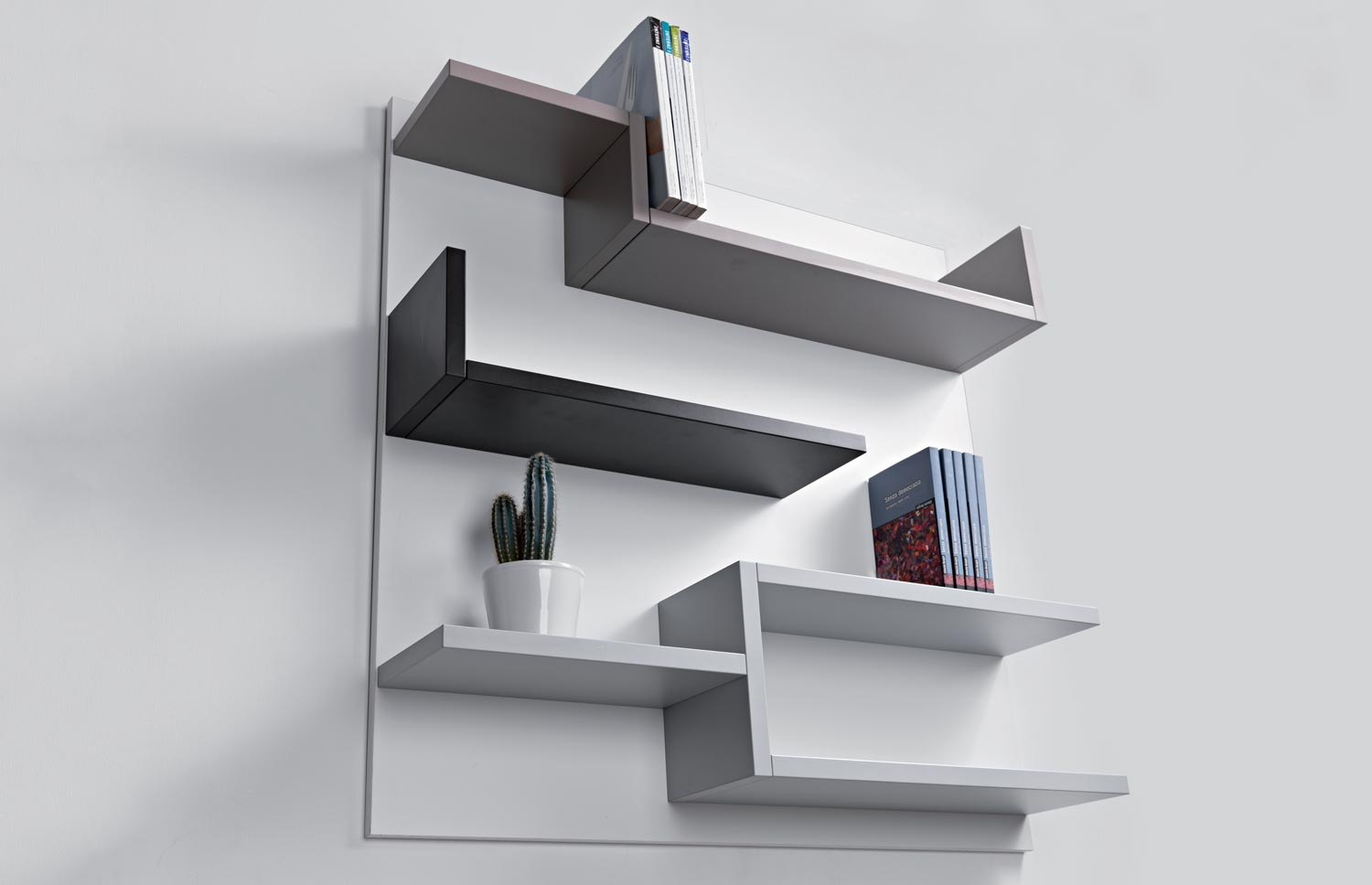 Mensole Legno Colorate.Libreria Myshelf