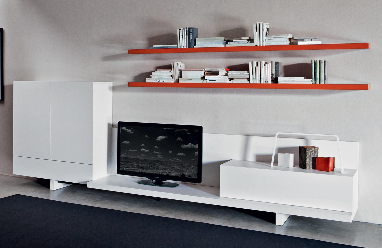 Mobile Tv Moderno Ebay: Libreria parete con porta tv blandini a ...