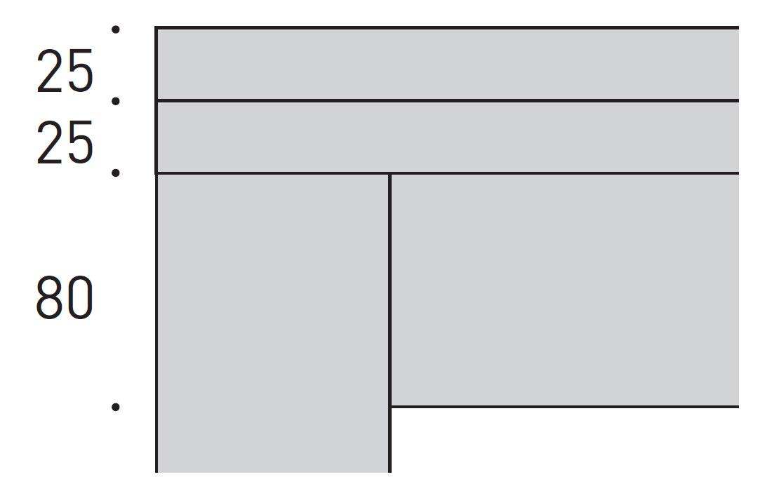 Sezione piano tavolo legno