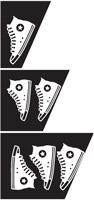Disposizione calzature