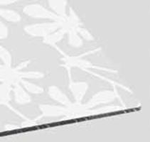 Serigrafato e verniciato decorato extra bianco