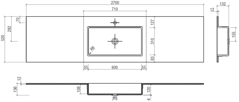 Mobile bagno sospeso sakho arredo design online for Produttore di blueprint online