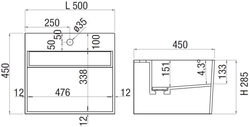 Mobile bagno sospeso buddy arredo design online - Misure lavabo bagno ...