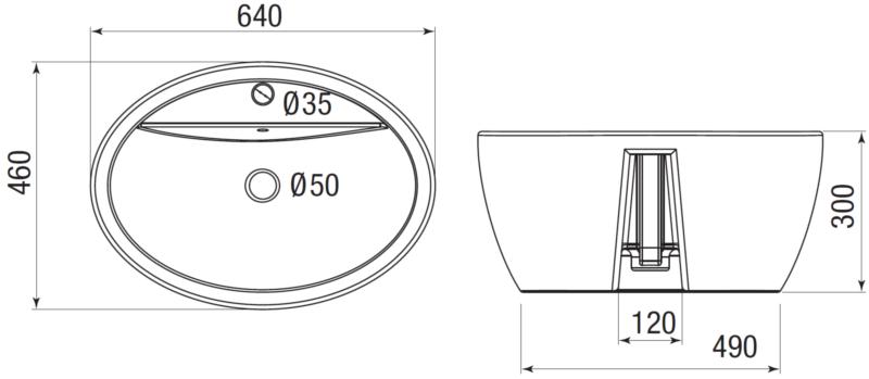 Misure lavabo soprapiano in ceramica
