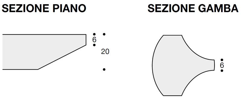 Scheda tecnica tavolino