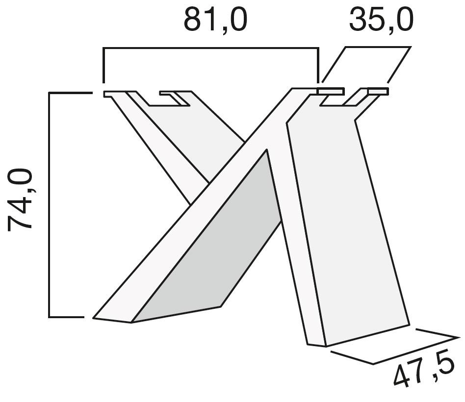 Basamento tavolo piccolo
